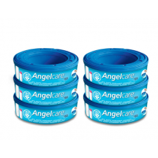Angelcare Nappy Refill Casettes x 6 Pack AC1106 (0+ Months)