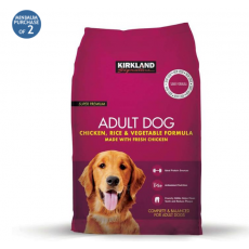 Kirkland Signature Super Premium Adult Complete Dog Food, Chicken, Rice &...