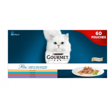Gourmet Perle Cat Food Chefs Fish and Meat Mixed Collection, 60 x 85g