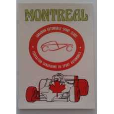 F1 Racing Logo Sticker - Montreal.