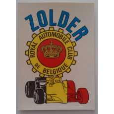 F1 Racing Sticker - Zolder.