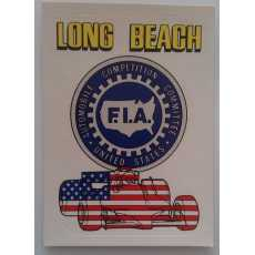 F1 Racing Sticker - Long Beach.