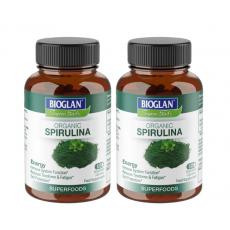 Bioglan Superfoods Organic Spirulina, 2 x 60 Capsules (2 Months Supply)