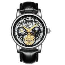 HIGH LIVING ® Men's Automatic Watch Analog Skeleton Mechanical Leather Strap