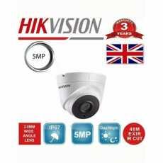 2 x HIKVISION 5MP DS-2CE56H0T-IT3F TURRET CAMERA 40M IR IP67 100% UK SPEC