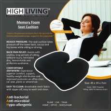 Highliving®Memory Freedom Wedge ... — Black