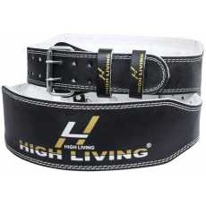 "HighLiving ®4"" Leather Weight Lifting Belt Back Gym Strap Support Fitness"