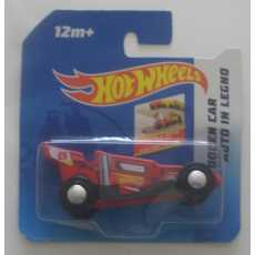 Hot Wheels - Wooden car - Red.
