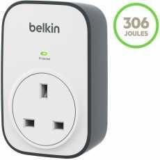 Belkin BSV102af SurgeCube 1 Way/ 1 Plug Surge Protection Plug, White