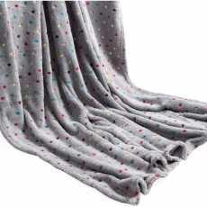 Highliving Soft Fleece Blanket Throw Warm Thick Sofa Bed Polka Dot 150 x 200
