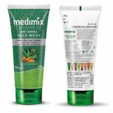 Medimix Ayurvedic Anti Pimple Face Wash 100ml - Neem - Aloe Vera, Turmeric