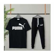 Mens Tracksuit Summer Sports Puma Suits T-shirt + Trouser Two-piece Outfit