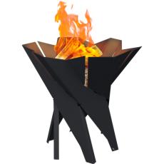 Black Basket Garden Fire Pits 55x50 cm Kratki