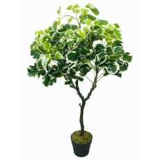 2x Artificial Ficus Leaf Topiary Mini Leaves 175cm Fake Home Plant Bush Flowers