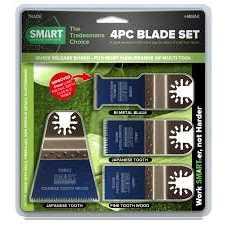 Smart H4MAK 4 Piece Multi Tool Blade Set