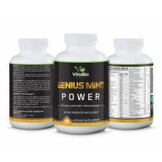 3 bottles 90 caps each Brain Boost Best Nootropics Genius Mind Power Vitabiolabs
