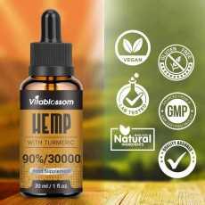 Hemp High Strength Oil with Turmeric - 30000MG/30ML, 2020 Hemp +Turmeric New