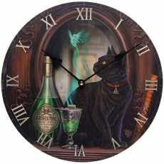 Decorative Black Cat Absinthe Lisa Parker Wall Clock Animal Watch Room Gift