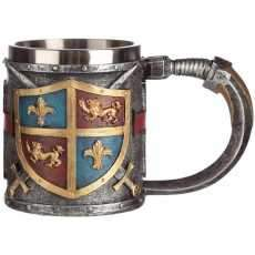 Collectable Decorative Coat of Arms Tankard Cup Tea Mug Gift Red Cross Sword
