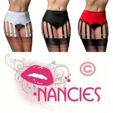 Nancies Lingerie Lycra 12 Strap  Suspender / Garter Belt for Stockings (NL12)