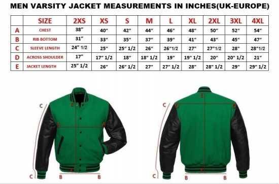 Classic Varsity Letterman bomber jacket- Black Wool Body & Black Leather Sleeves