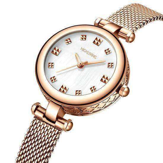 HIGH LIVING ® Wrist Luxury Watch Woman Fashion Business Dress Stainless Steel