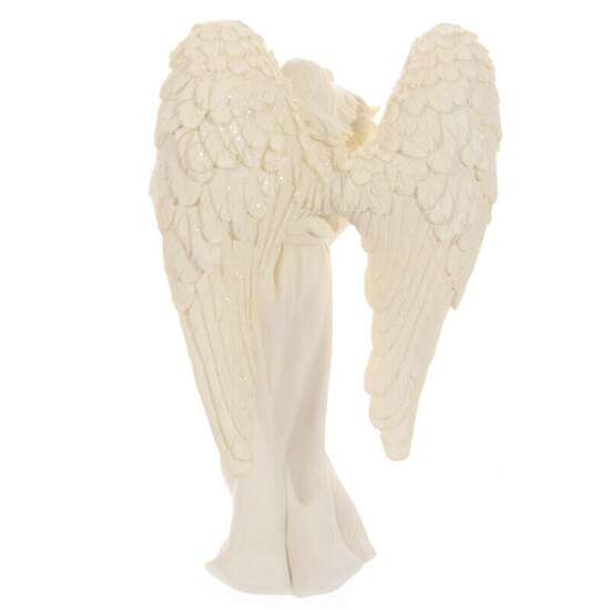 Decorative Ornament Cream Standing Angel Cream Tealight Holder Home Gift